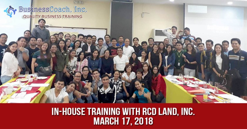 In-House Corporate Training with RCD Land, Inc.