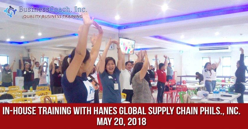 In-House Corporate Training with Hanes Global Supply Chain Phils., Inc.