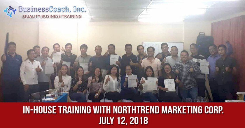 In-House Corporate Training with Northtrend Marketing Corp.