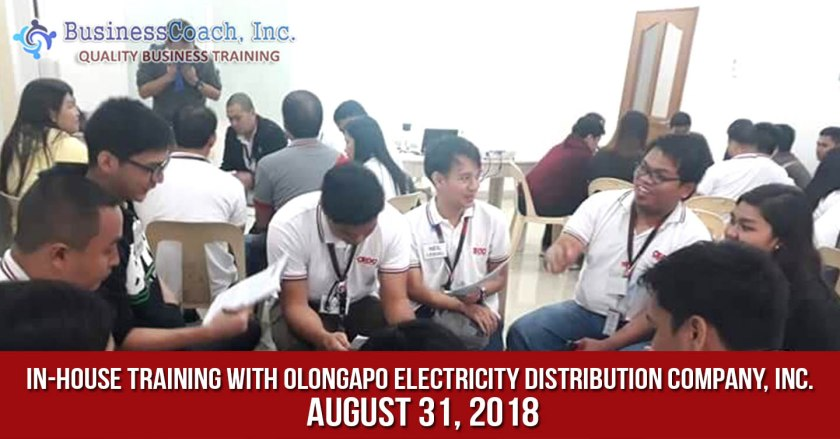 In-House Corporate Training with Olongapo Electricity Distribution Company, Inc.