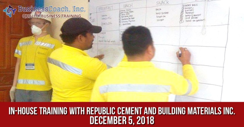In-House Corporate Training with Republic Cement and Building Materials Inc.