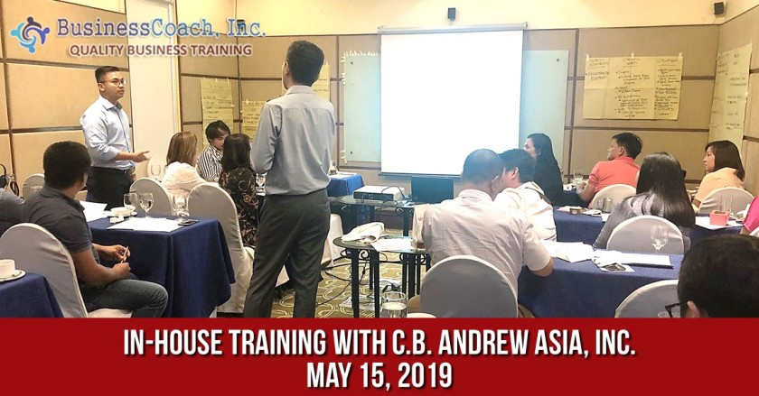 In-House Corporate Training with C.B. Andrew Asia, Inc.