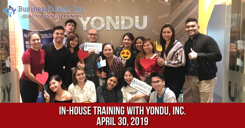 In-House Corporate Training with Yondu, Inc.